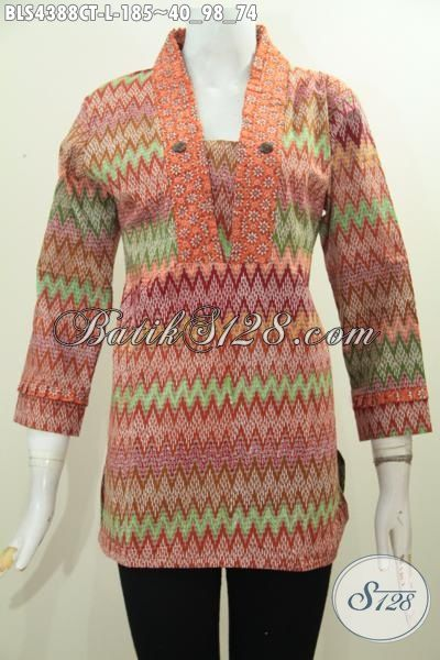 Warna Mewah Kalem Batik Wanita  Model Baju Batik Modern 2018