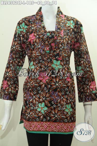 Pakaian Batik Cap Tulis Model Terkini, Berbahan Halus Motif Trendy Cap Tulis Buat Penampilan Lebih Mempesona, Size L