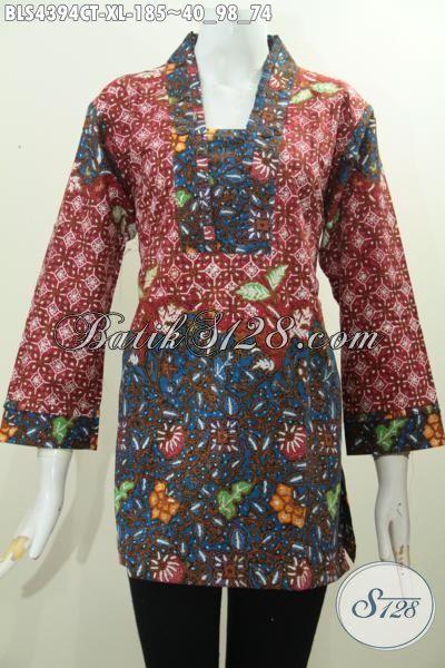 Jual Online Pakaian Batik Wanita Dewasa Kombinasi Dua
