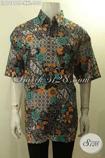 Model Baju Batik Terbaru Pria 2018 Hem Lengan Pendek Motif Kekinian