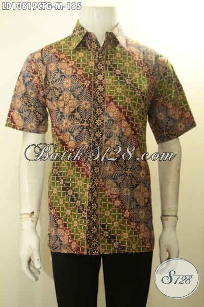 Produk Baju Batik Kawula Muda Motif Klasik, Hem Batik ELegan Cap Tulis Gradasi Bahan Adem Model Lengan Pendek, Cocok Buat Ngantor Dan Acara Formal, Size M