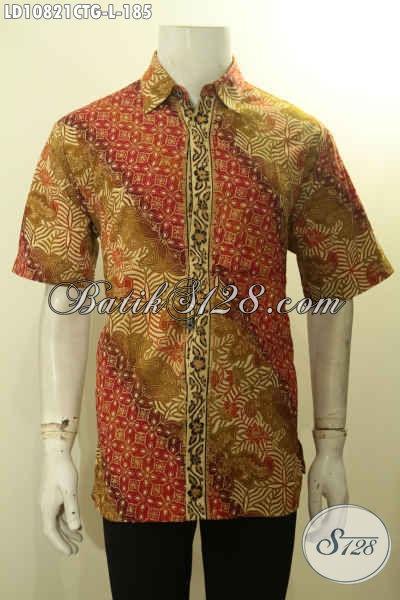 Hem Batik Size L Model Terbaru Untuk Kerja Dan Acara Resmi, Pakaian Batik Pria Muda Dan Dewasa Tampil Gagah Menawan Motif Bagus Proses Cap Tulis Gradasi