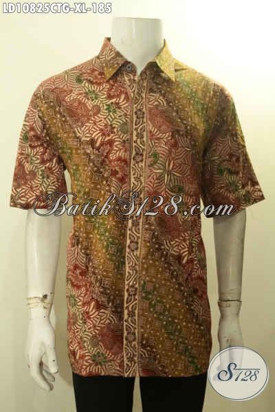 Produk Baju Batik Solo Masa Kini, Hem Batik Modis Halus Kwalitas Bagus Lengan Pendek Motif Klasik, Pilihan Tepat Tampil Menawan Dan Berwibawa, Size XL