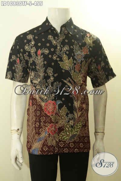 Model Baju Batik Tulis Mewah Lengan Pendek Full Furing 2019, Kemeja Batik Premium Nan Istimewa Cocok Untuk Seragam Kerja Pria Karir Sukses Tampil Mewah Dan Gagah [LD10830TF-S]