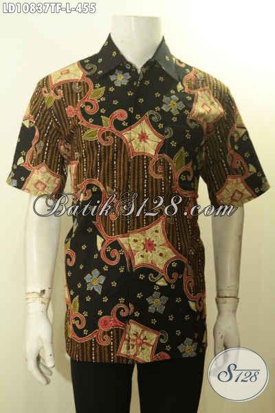 Jual Produk Baju Batik Solo Elegan Istimewa Premium, Baju Batik Kerja Berkelas Daleman Lapisan Furing Kesan Mewah, Produk Baju Batik Tulis Solo Untuk Kerja Dan Acara Resmi, Size L