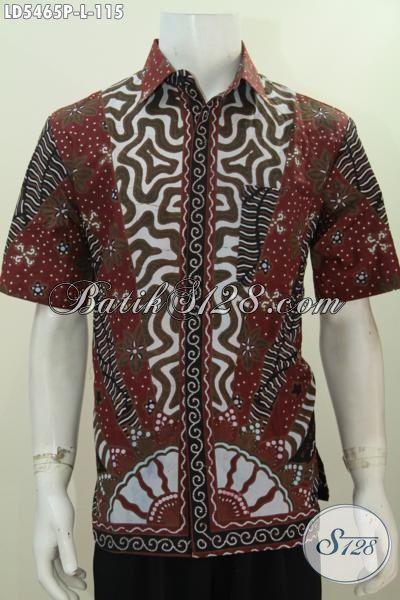 Baju Hem Lengan Pendek Klasik Asli Dari Solo, Pakaian Batik Halus Proses Printing Kwalitas Istimewa Hanya 115K, Size M – L – XL