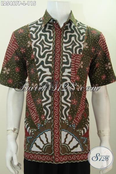 Hem Batik Murah Kwalitas Mewah, Baju Batik Elegan Motif Klasik Desain Formal Proses Printing Hanya 115K, Size M – L – XL