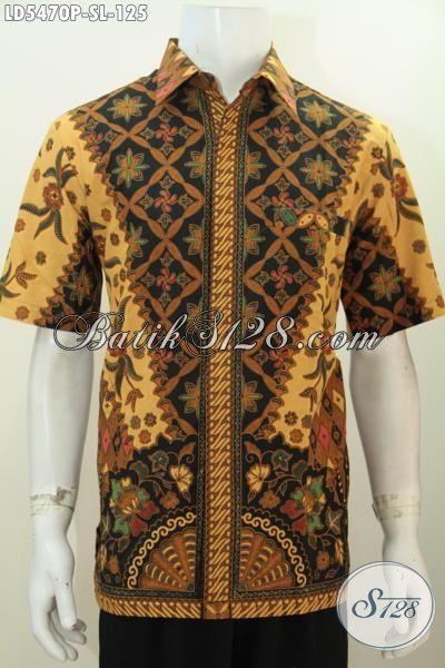 Sedia Pakaian Batik Elegan Nan Mewah Hadir Dengan Harga Murah, Baju Batik Halus Proses Printing Model Lengan Pendek Untuk Seragam Kerja Hanya 125 Ribu [LD5470P-S]
