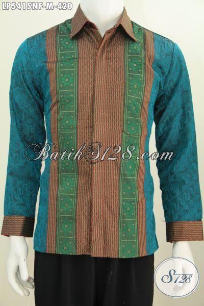 Jual Produk Baju Tenun Halus Lengan Panjang Khas Jawa Tengah, Baju Formal Dengan Desain Motif Mewah Daleman Full Furing Cocok Untuk Acara Resmi, Size M