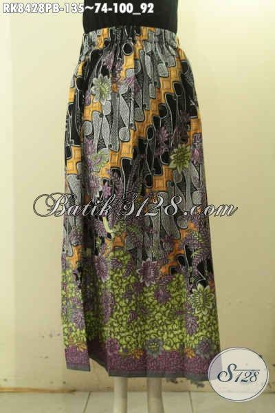 Batik Rok Halus Motif Trendy Proses Printing Dengan Karet Belakang, Wanita Tampil Modis Dan Anggun Hanya 135K