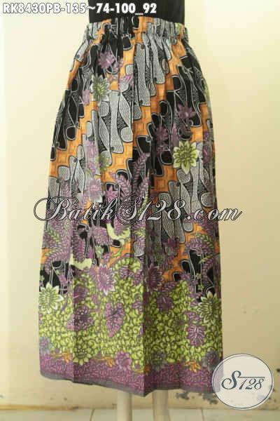 Model Batik Rok Klok Kwalitas Istimewa, Rok Batik Dengan Karet Belakang Lebih Modis Dan Nyaman Di Pakai, Cocok Untuk Santai Dan Resmi Harga 135K [RK8430PB-All Size]