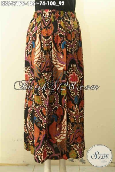 Produk Busana Batik Rok Modis Motif Bagus Model Klok Dengan Karet Belakang, Pakaian Batik Yang Bikin Wanita Tampil Anggun Dan Feminim [RK8431PB-All Size]